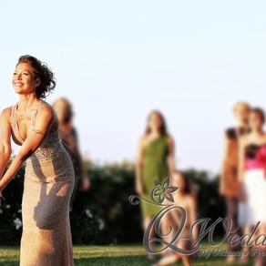 新娘拋花球