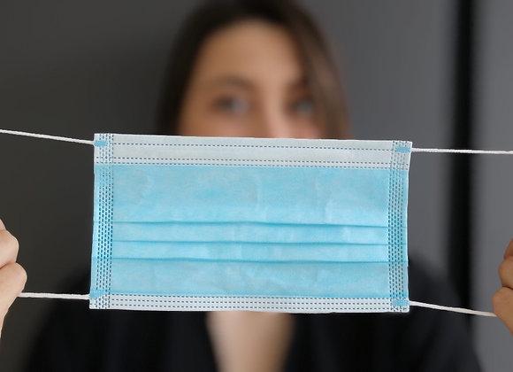 Schutzmaske 3-lagig mit Virenschutzflies - med Typ 1 -TÜV geprüft