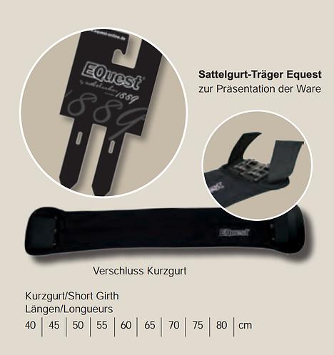 Equest Neopren-Sattelgurt kurz, schwarz
