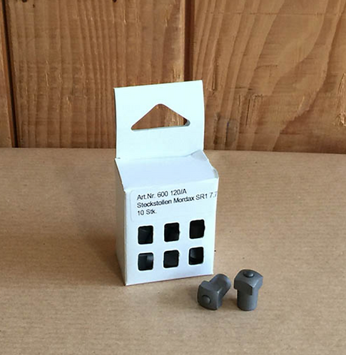 Steckstollen Mordax Nr. 3, gehärtet, SR 7.7 mm, H 18 mm