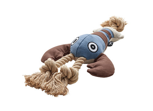 Hundespielzeug Canvas Sansibar Rantum Hummer mit Squeaker