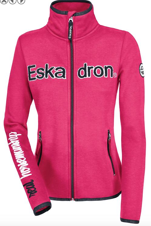 Fleece Zip-Shirt Women, Nicky, pink-melange