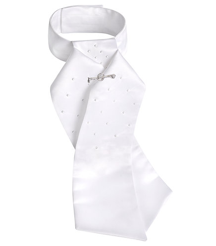 Plastron Claire, weiss