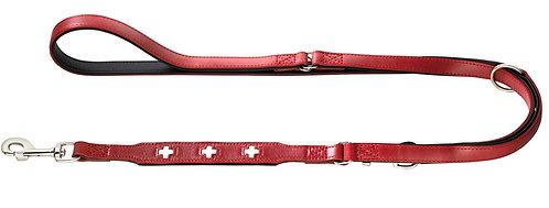 Verstellbare Führleine Swiss 18/200 Ökoleder rot