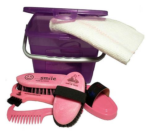 Kinderbox lila/rosa gefüllt, 220x135x175mm