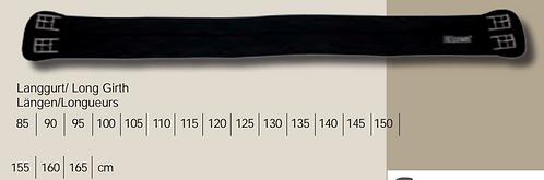 Equest Neopren-Sattelgurt lang, schwarz