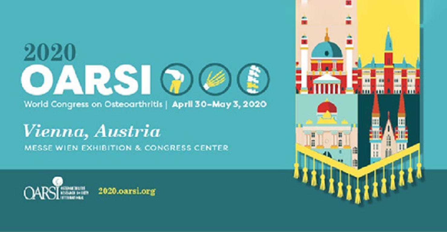 Invited presentation in the 2020 OARSI World Congress on Osteoarthritis