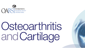 Publication to Osteoarthritis and Cartilage Journal (Apr 2020)