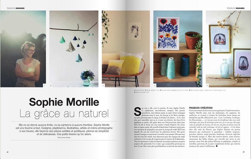 HOME MAGAZINE (portrait Sophie Morille).