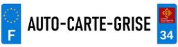 Logo AUTOCARTEGRISE.COM (forme plaque d'