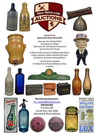 Nick Rowland Auctions Collectables and Antique bottles catalogue results auction 4
