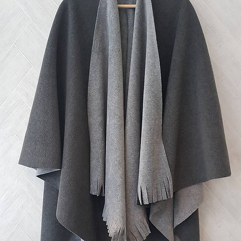 Grey on Grey Double Fleece Wraps