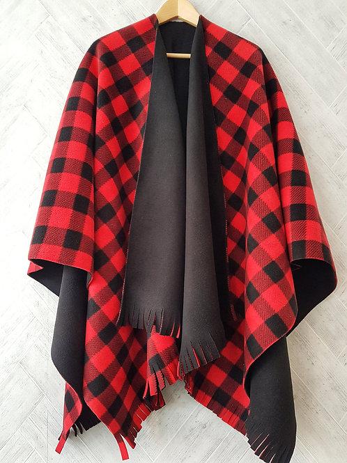 Red Check Double Fleece Wraps