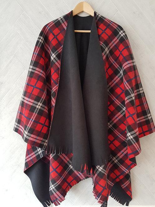 Red Plaid Double Fleece Wraps