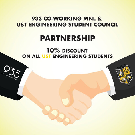 933 Co-working MNL and UST Engineering student council partnership.