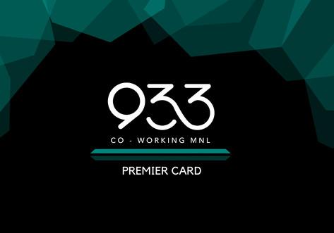 933 Premier Membership Card