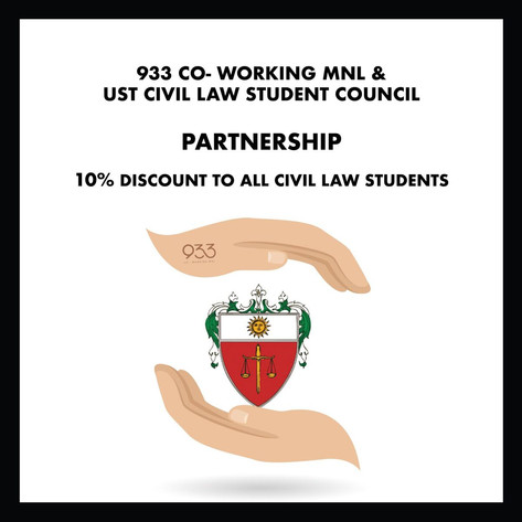 933 Co-working MNL and UST Civil Law Student Council partnership