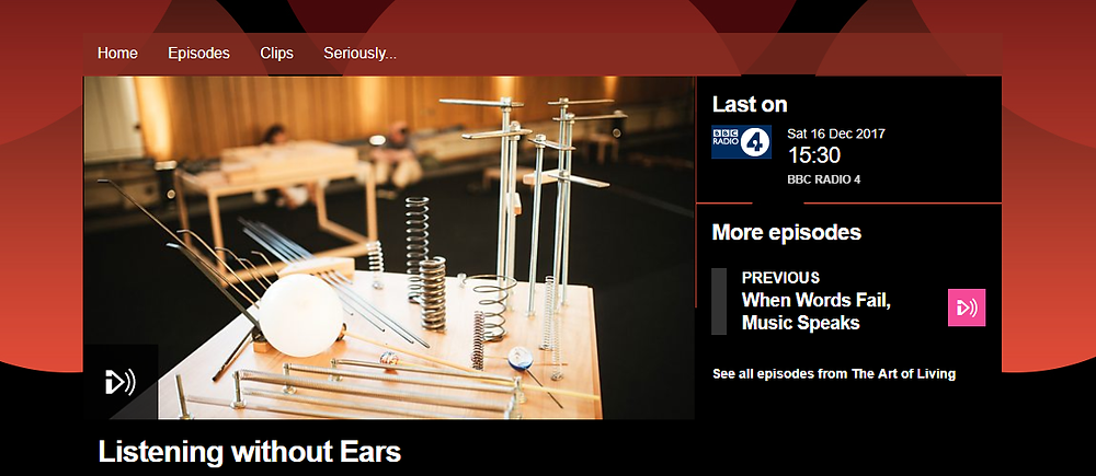 Listening Without Ears iPlayer