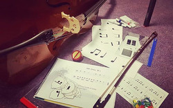 Cello and Flashcards