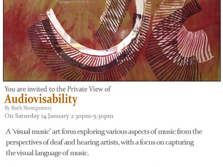 FORTE Ensemble Performance: Audiovisability Exhibiton at the Arlington Arts Centre