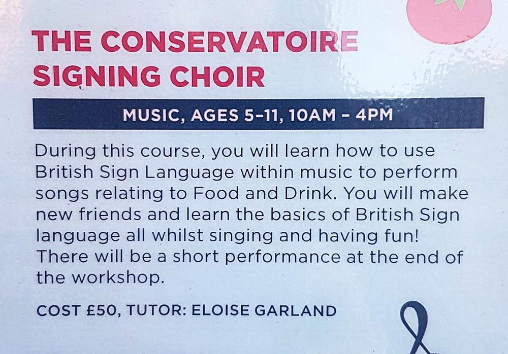 Signing Choir Course Description