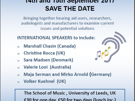 Save the Date: Hearing Aids for Music Conference, 2017