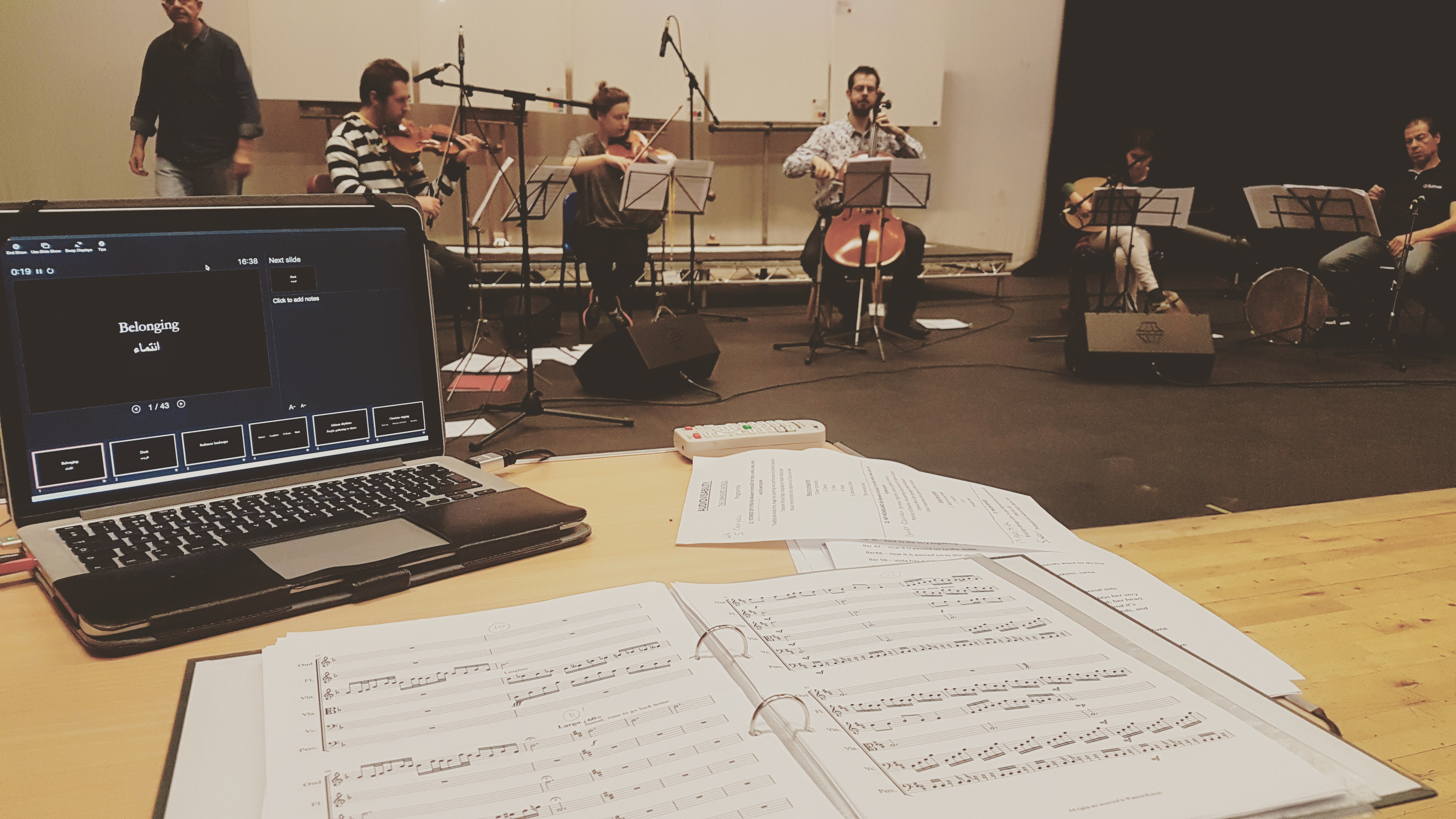 Rehearsals for 'The Unheard World'