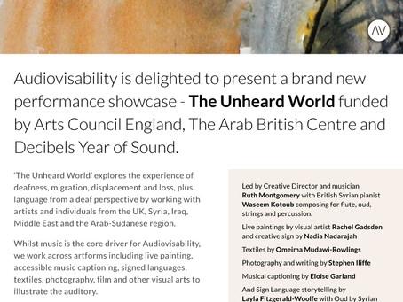 Invitation to Audiovisability's 'The Unheard World'