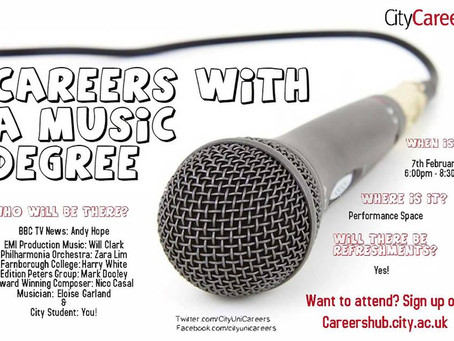 City, University of London: Careers with a Music Degree Event
