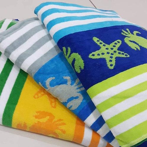 CRABS & STARFISH Jacquare Towels