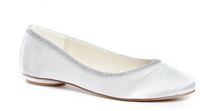 Ivory Silver Band Flats
