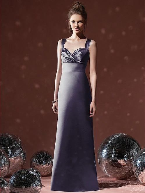Charcoal grey evening gown
