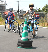乗れない小学生のための自転車教室