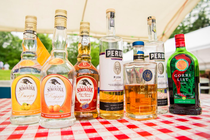 Assortment of Serbian Liquor