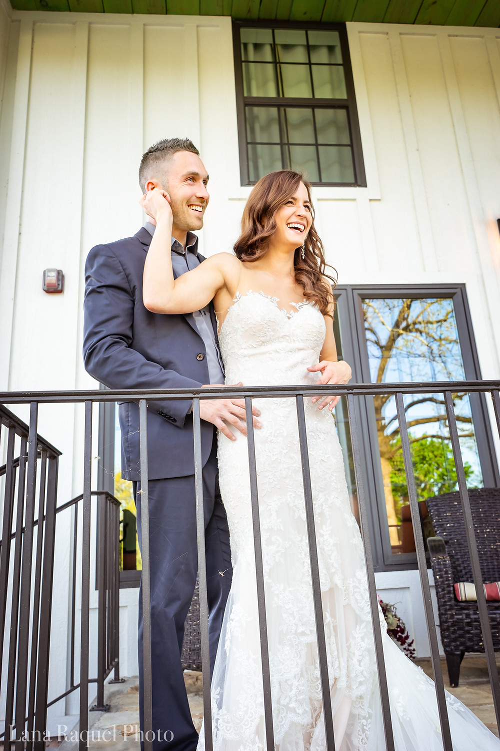 Bride and Groom at Historic Estate