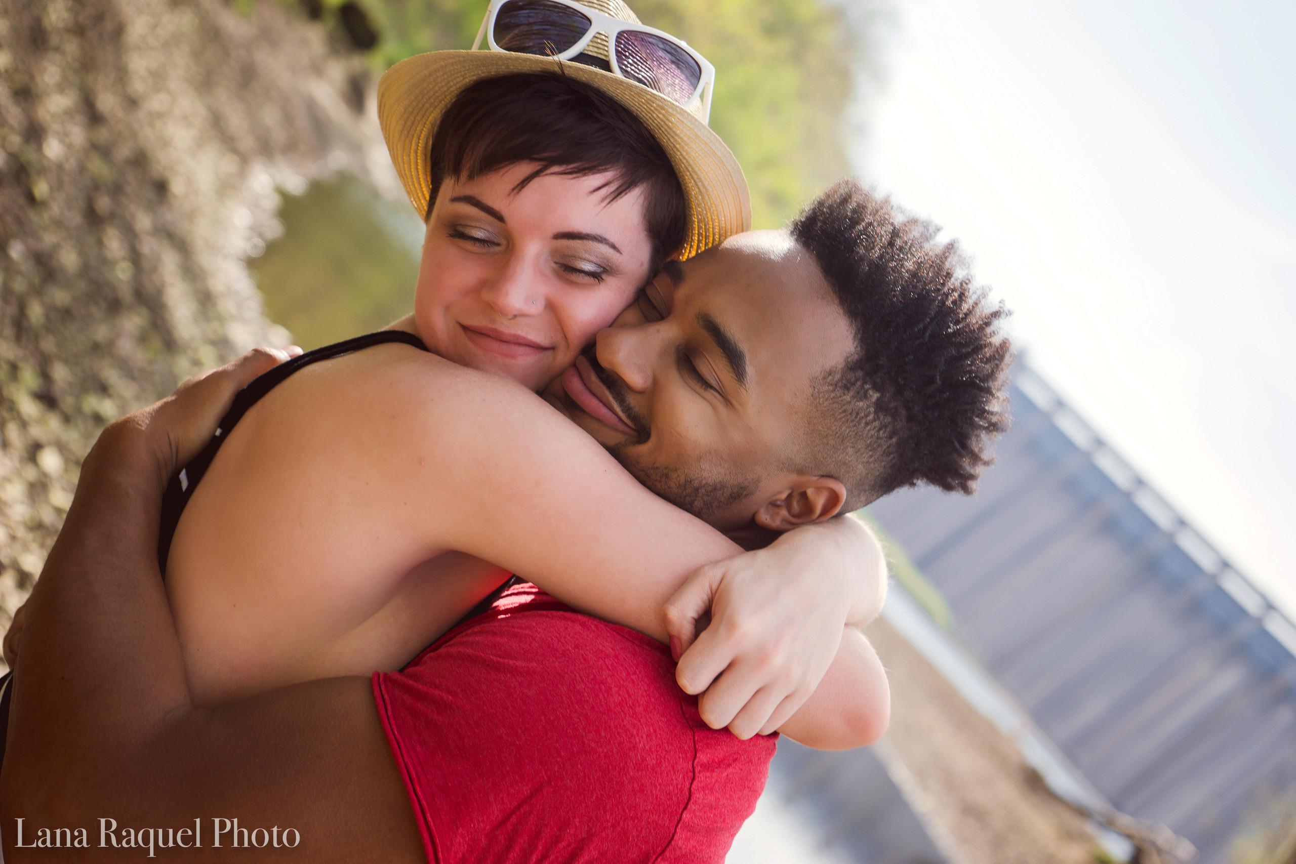 Boyfriend and Girlfriend Embrace