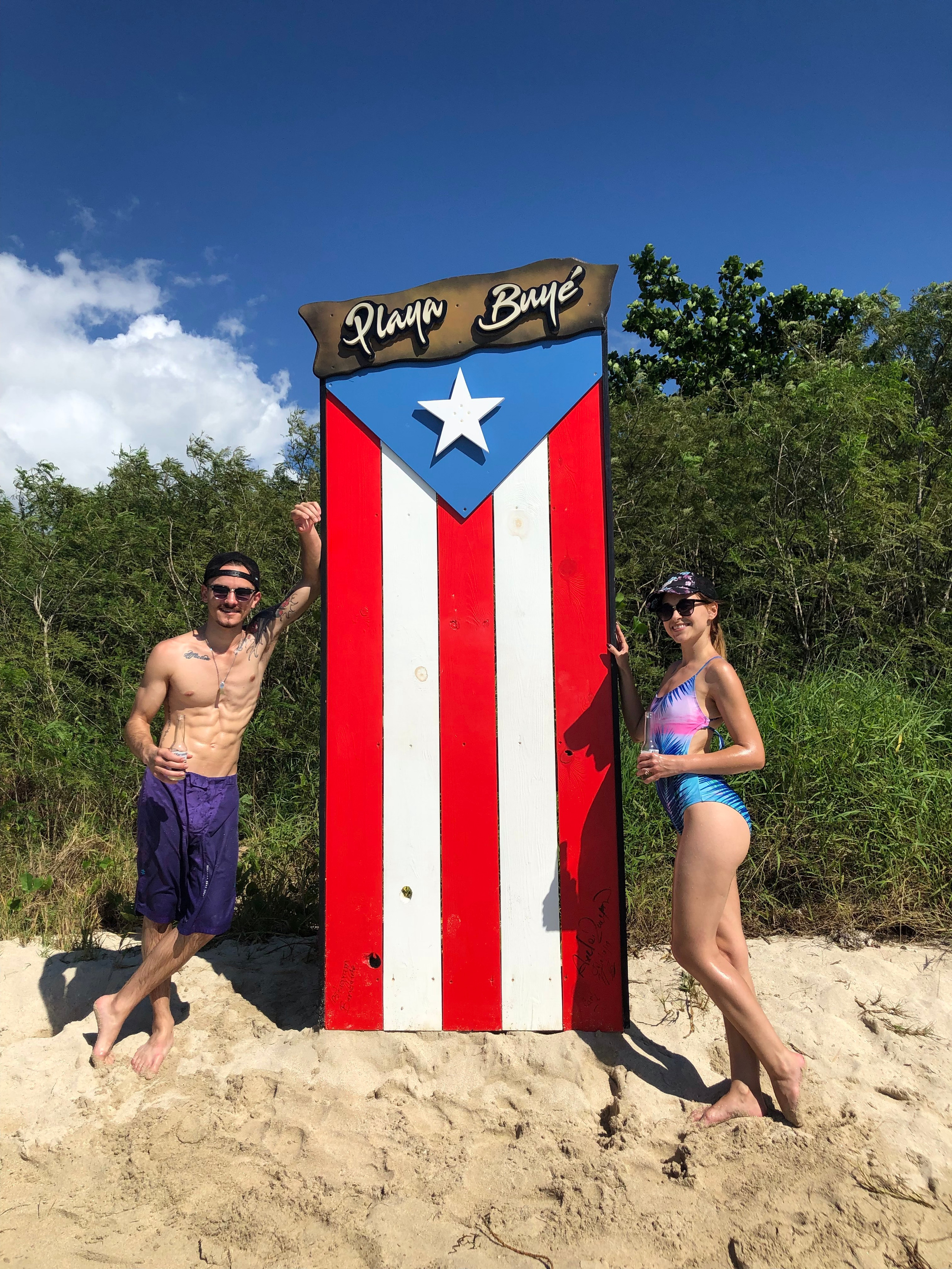 Couple at the beach in Puerto Rico