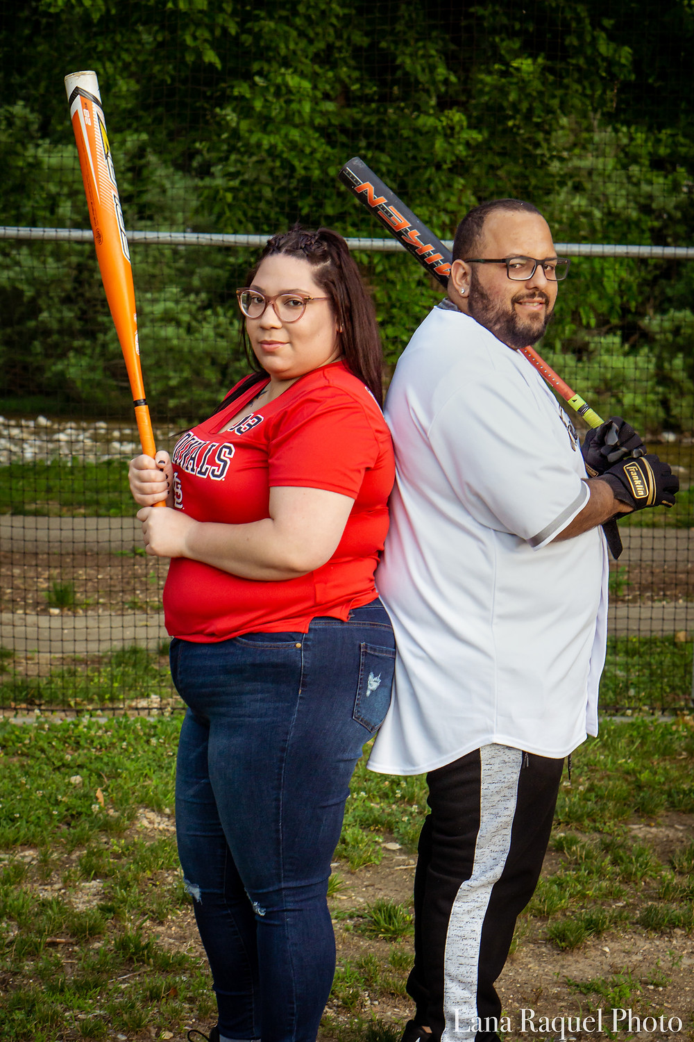 Baseball Photoshoot of Husband and Wife