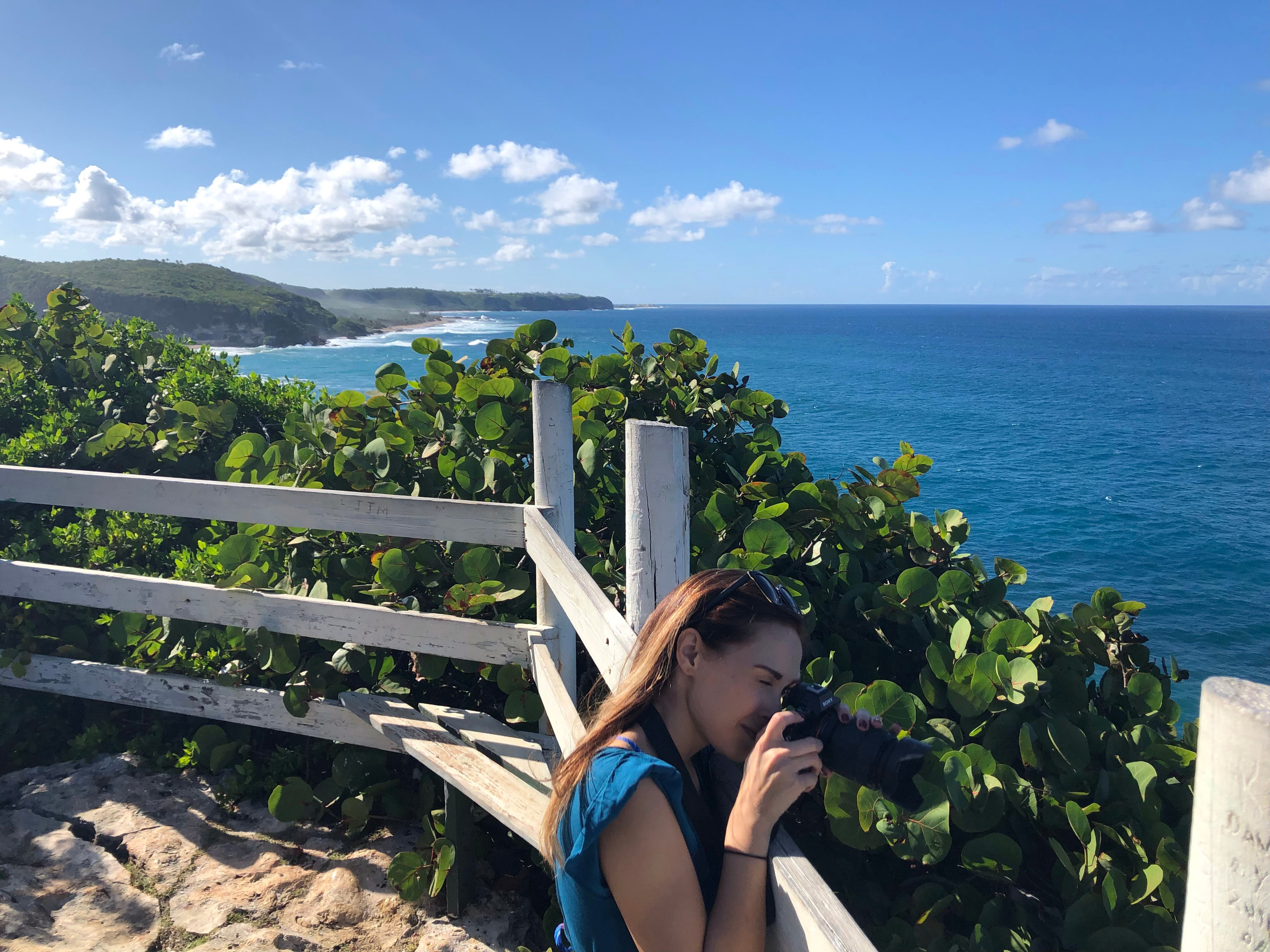Photographer takes picture of scenic view puerto rico