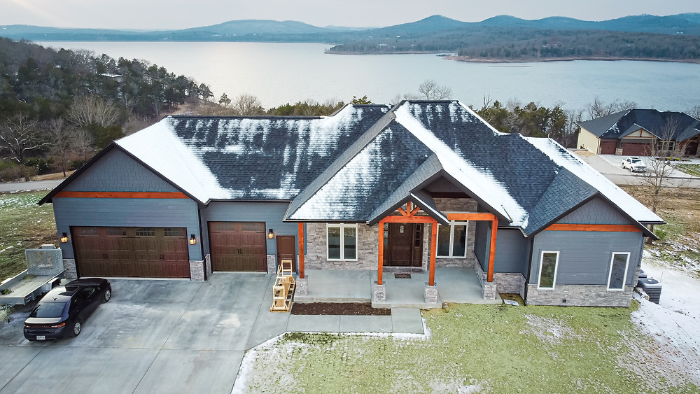 New Construction Lake Home Photography