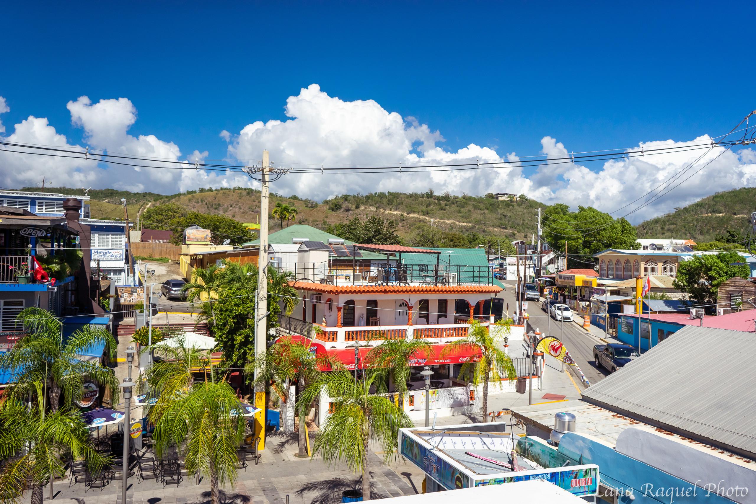 Scenic Overlook of Village in Puerto Rico