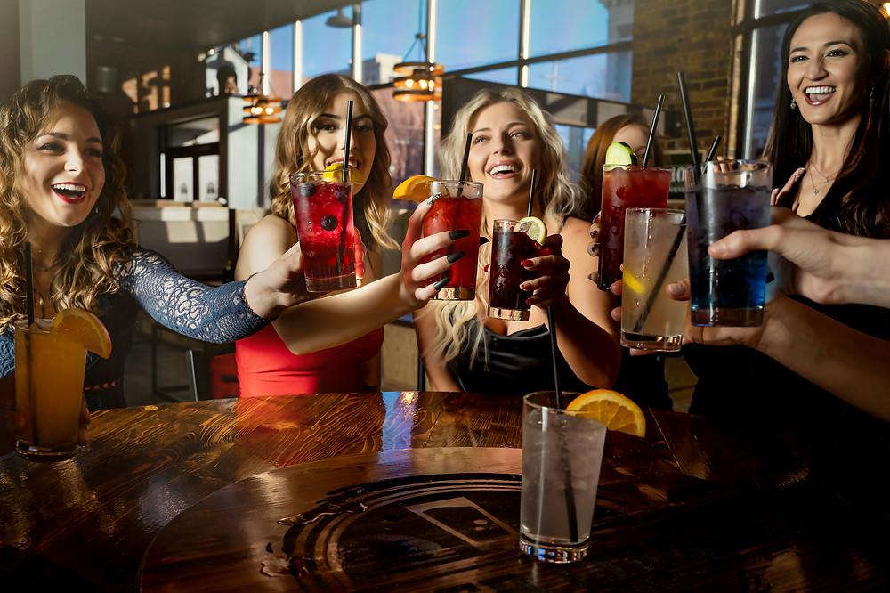 Models Cheers at Vodka Bar