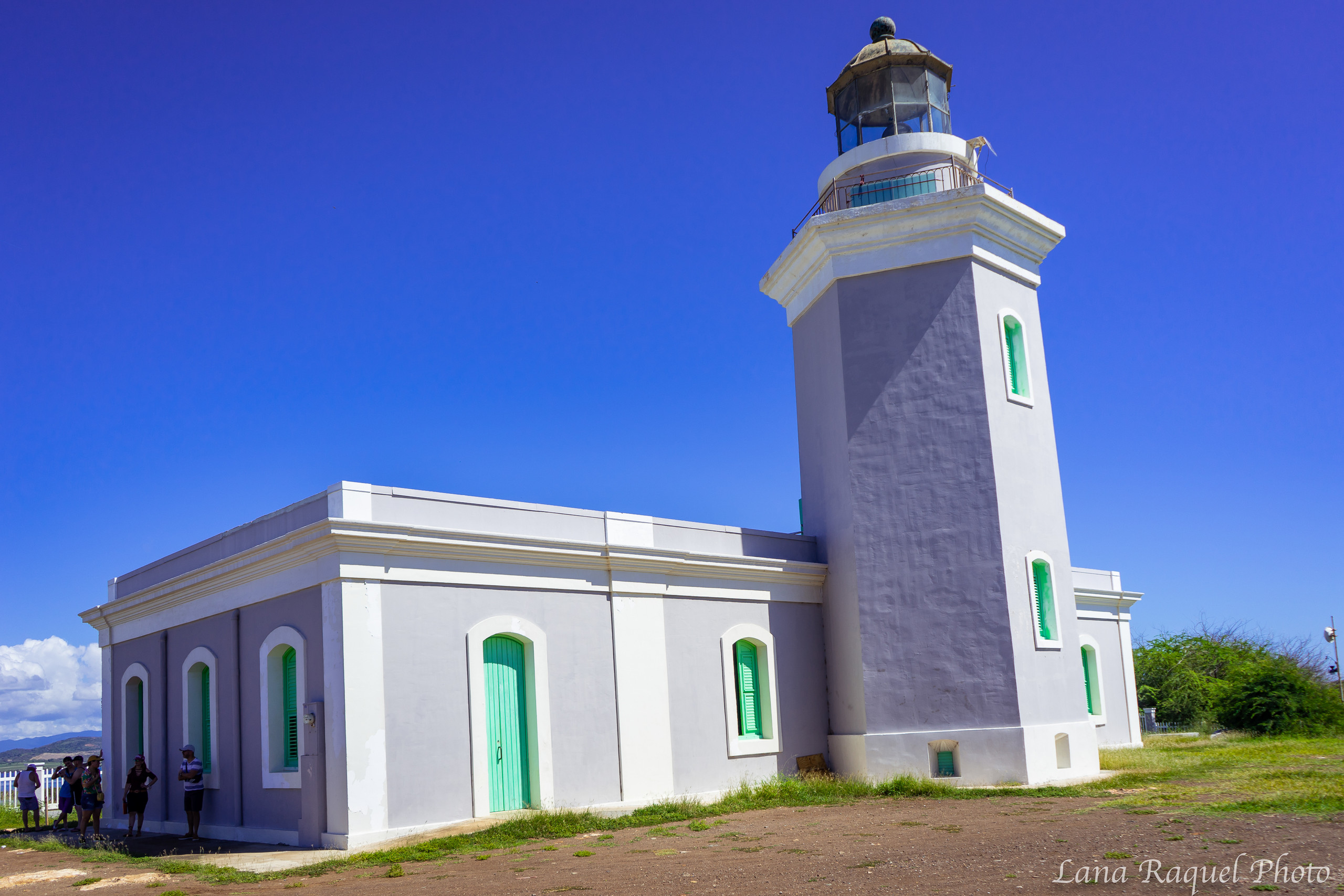 Lighthouse on the cliffs in Aguadilla PR