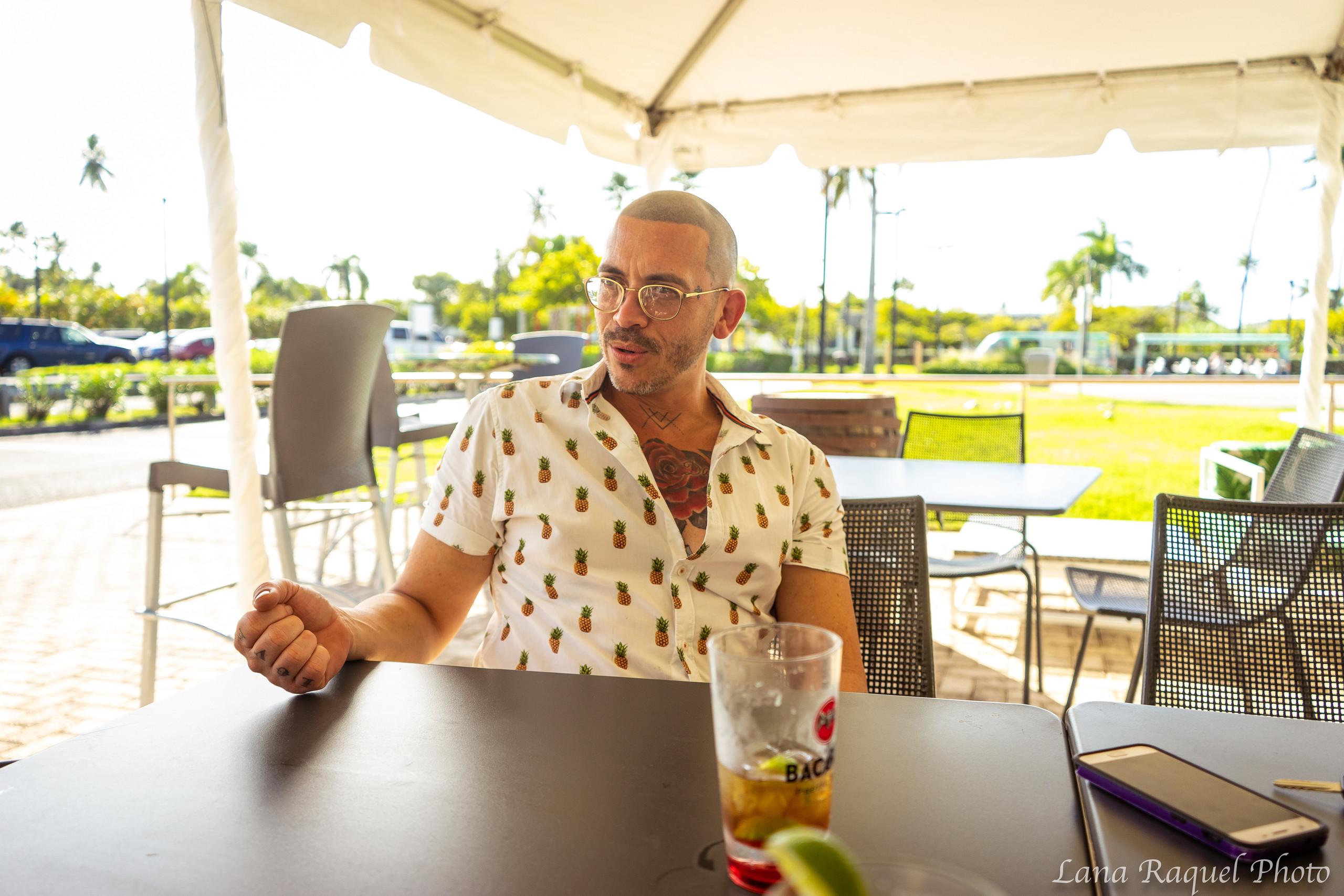 man enjoys bacardi tour Puerto Rico