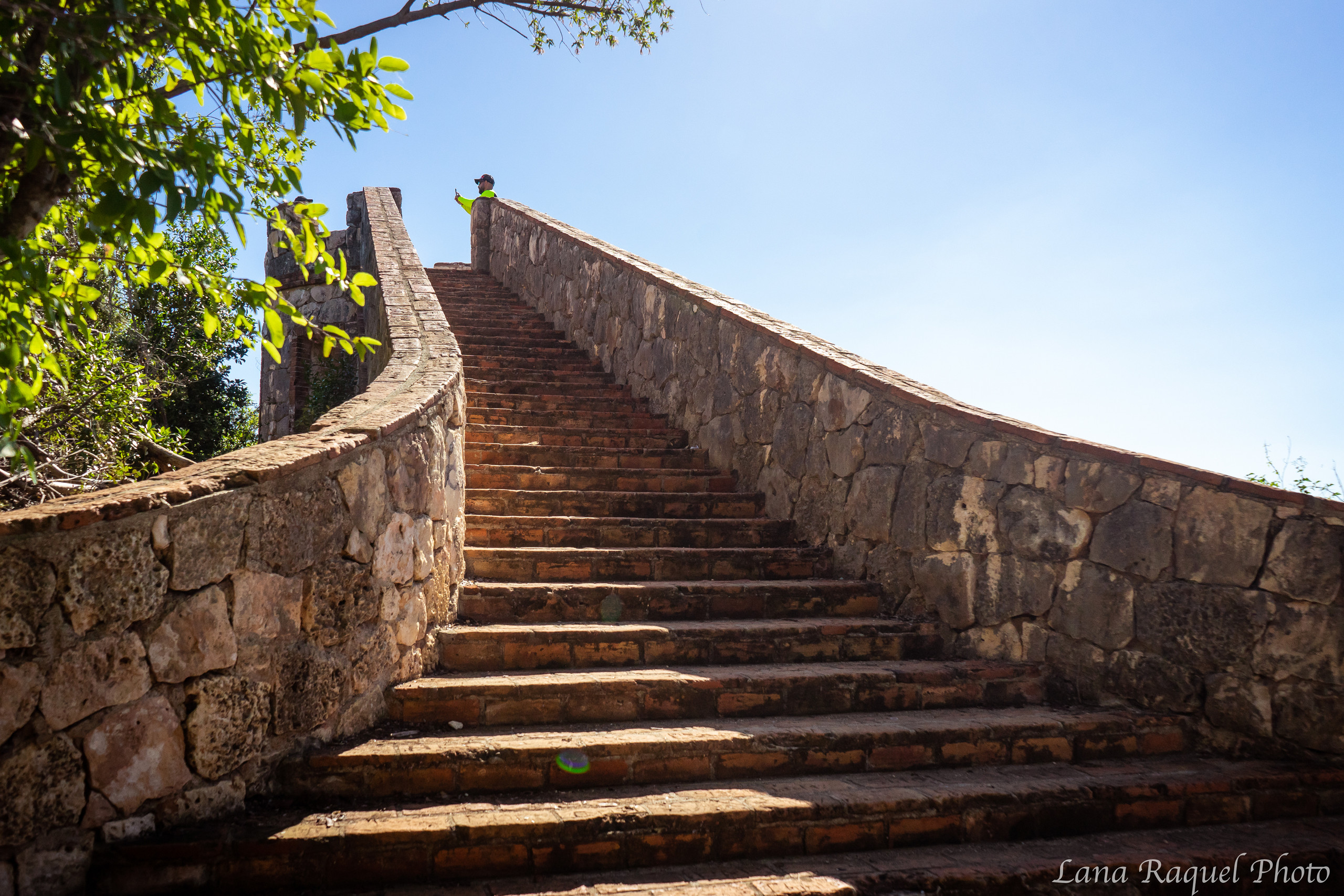 staircase of a historic fortress in puerto rico