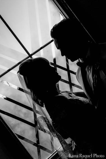 Black-and-White-Wedding-Silhouette