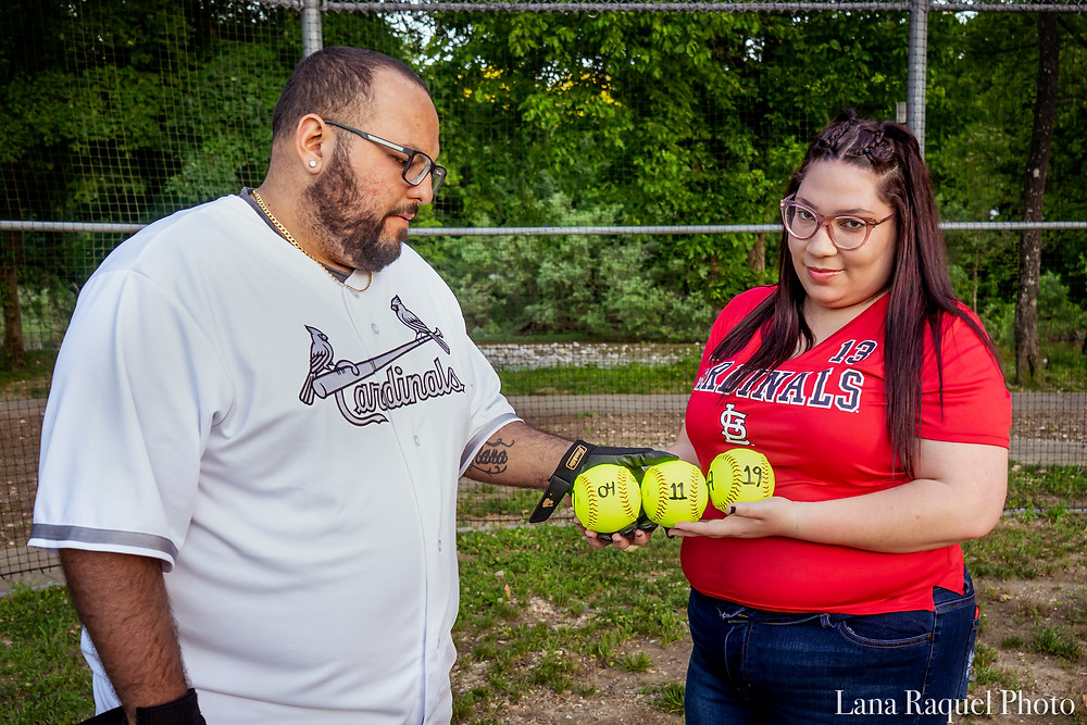 Couple celebrates anniversary date with baseballs