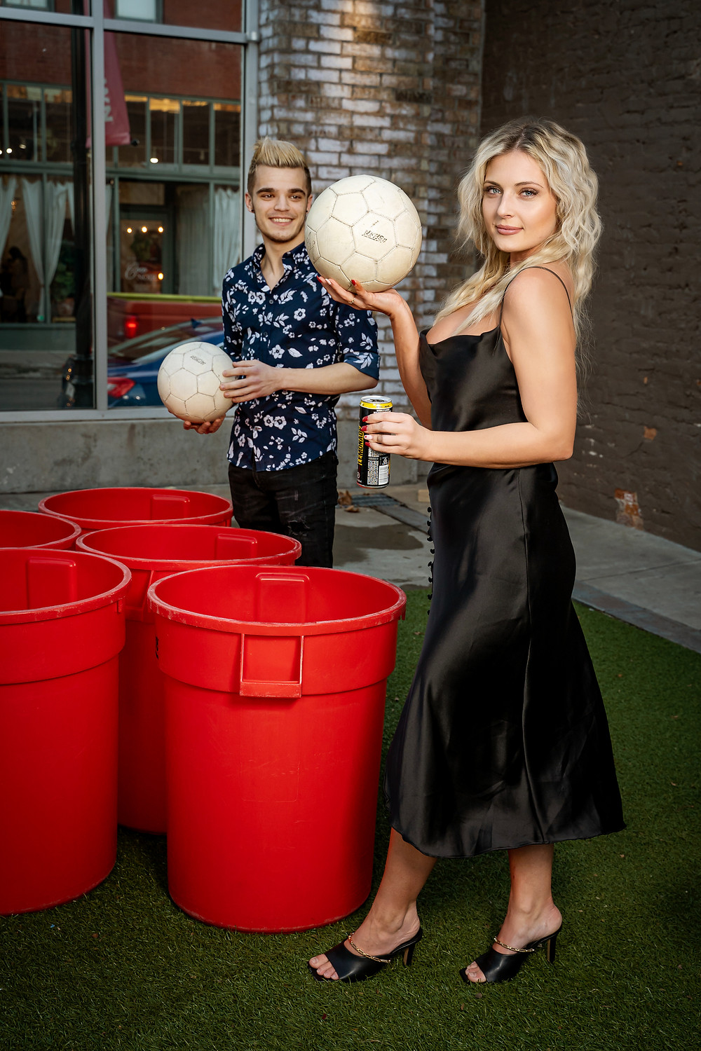 Beer Pong with Hot Models