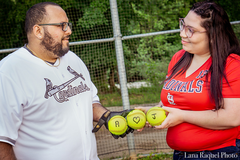 Couple Celebrates Anniversary with Baseballs