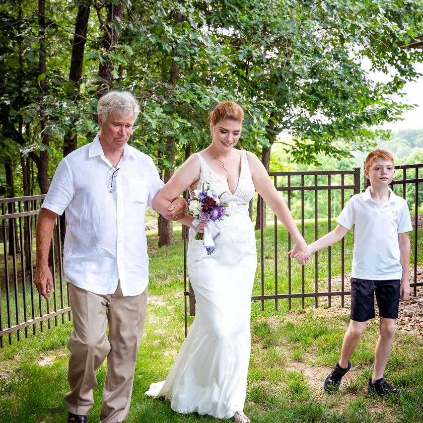 Bride with Father and Grandson